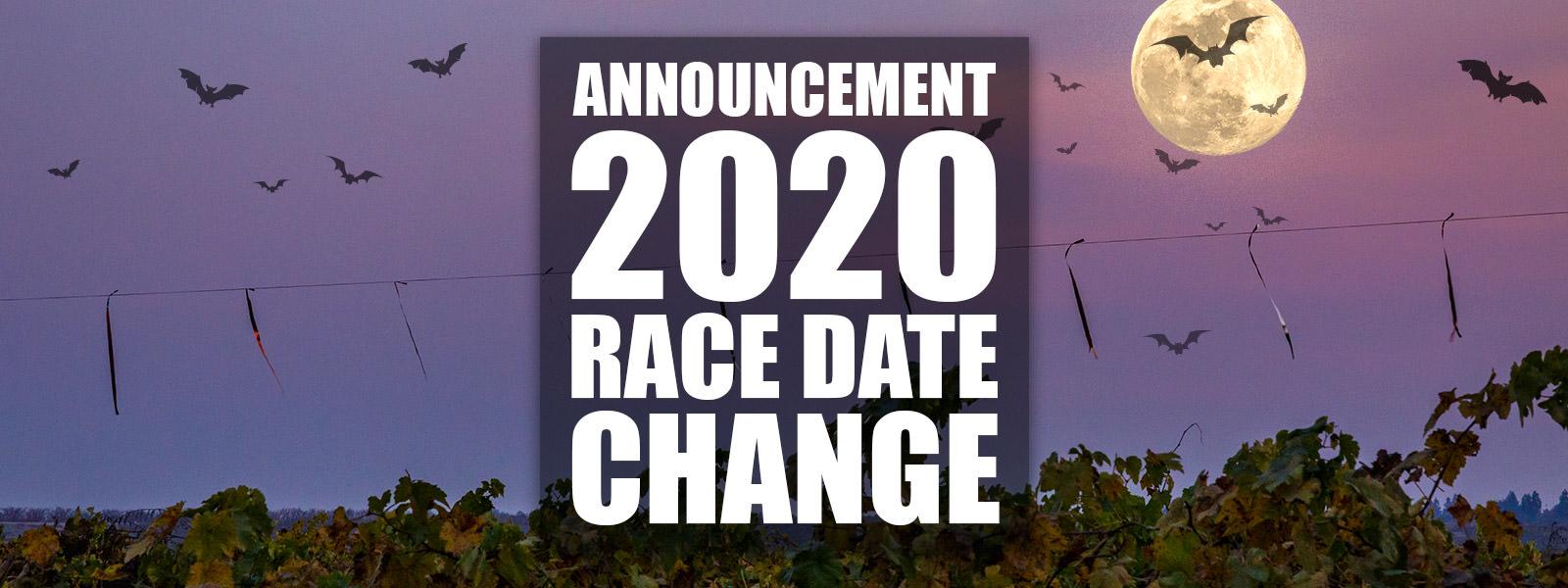 2020 RACE DATE CHANGE