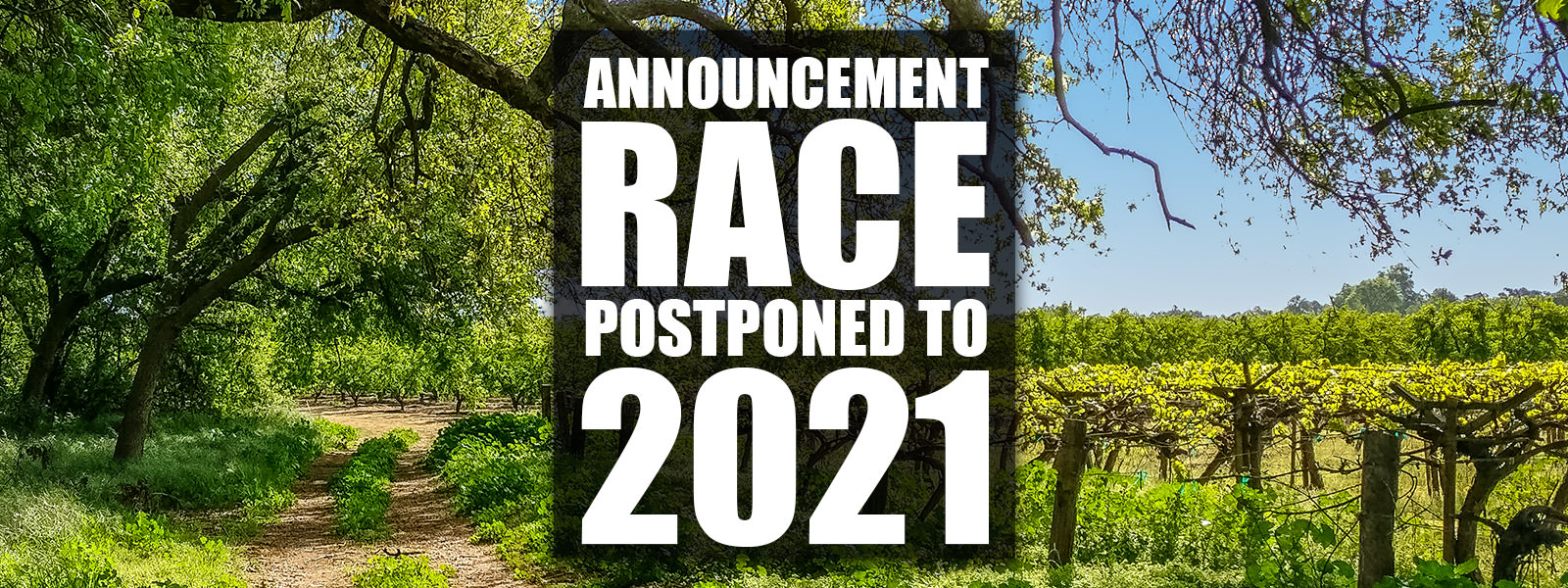 Race Postponed To 2021