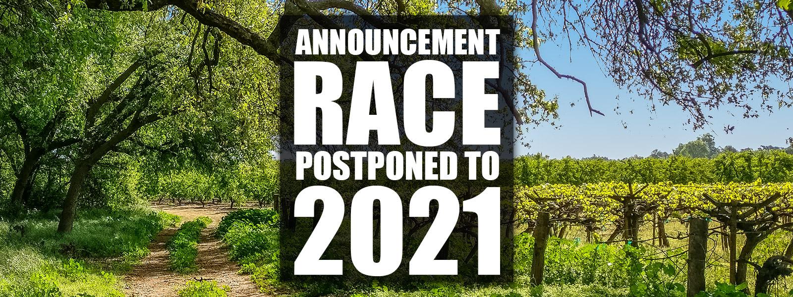 Race Postponed To 2021