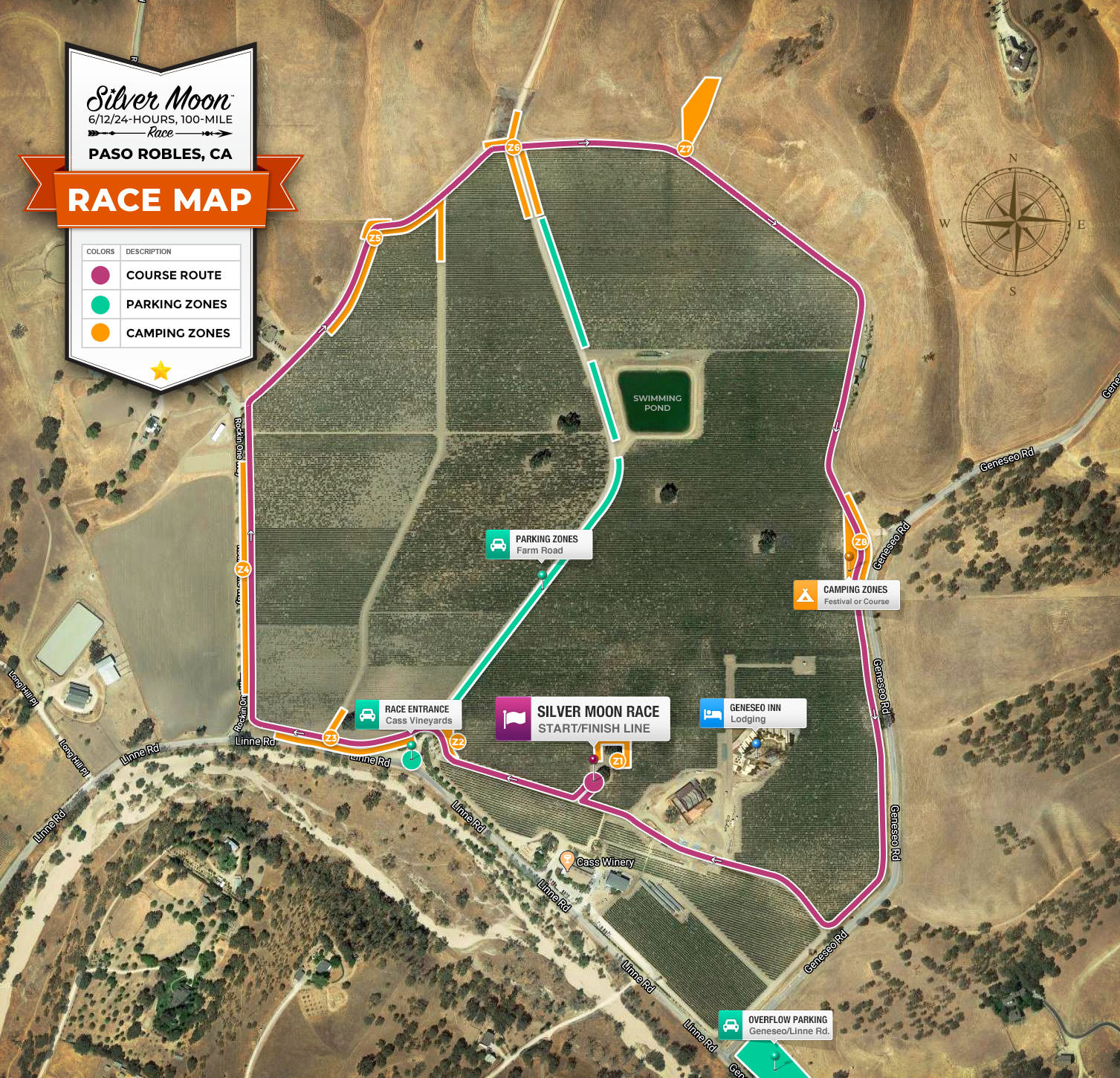 Course & Camping Map